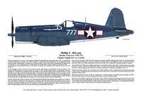 F4U Corsair, Marine Ace, WWII, Aviation Art, Ernie Boyette