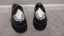 Rockabilly platform shoes Size 9 Black & White Elvis Vintage 1950s look