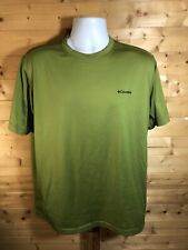 Men's Columbia Large L Short Sleeve Solid Green Tee T-Shirt