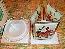 "Chesapeake Bay 5-1/2"" Floral Glass Potpourri Burner - New & Free Shipping!"