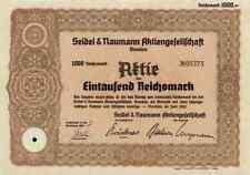Seidel & Naumann 1942 Dresden 1000 RM Erika máquinas de escribir VEB Robotron Erfurt
