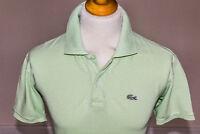 Lacoste Mens Short Sleeve Devanlay Pique Cotton Polo Shirt Lime Green Size 6 XL