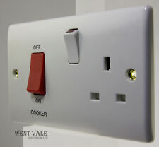 BG Nexus - 871-01 - 45a Double Pole Cooker Control + Socket New