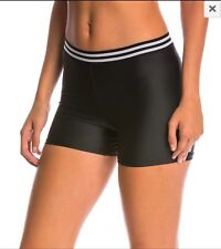 NWT Women's ONZIE Elastic Shorts Yoga Running Tight Shorts Black DriFit M/L