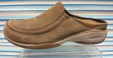 MERRELL PRIMO SCOOP BROWN LEATHER SLIP ON MULES CASUAL WOMENS SHOES 7.5