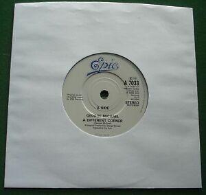 "George Michael A Different Corner / Instrumental Epic A 7033 7"" Single"