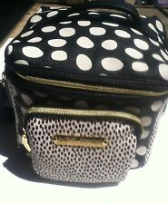 Betsey Johnson Cargo Black/Ivory Polka Dot Design Insulated Lunch Tote NWT