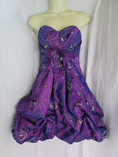 d229dd2bec25 New ListingTOTALLY 80s STYLE Purple Tiered Bubble Hem Strapless Prom  Cocktail Party Dress 0