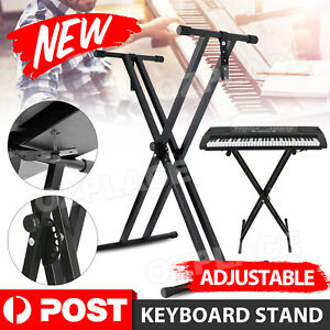 X-Type Keyboard Stand Height Adjustable Music Piano Double Braced Folding