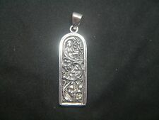 Maid, Mother & Crone Sterling Silver Bar Triple Goddess Pendant by Dryad Design