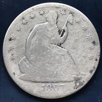1867 S Seated Liberty Half Dollar 50c Nice Details #8923