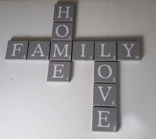 Scrabble Buchstaben groß 12 x12 cm als Wanddeko A-Z