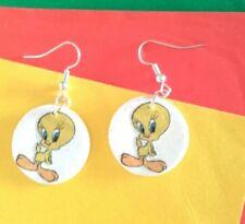 Orecchini creazioni  fimo Titti fatti a mano Bijoux earring handmade idea regalo