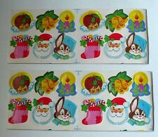 Vintage Christmas Unused Gift Seals/Tags 11 Sheets 132 Seals