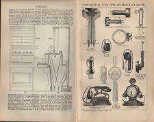 Lithografie/Druck 1903: TELEPHON UND TELEPHONANLAGEN.
