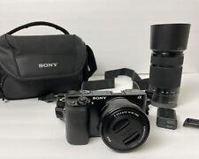 Sony Alpha α6000 24.3MP Digital mirroless camera. SET