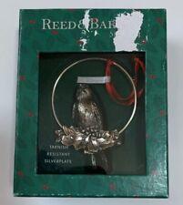 Reed & Barton Silverplate Bird Holly Berry Christmas Ornament