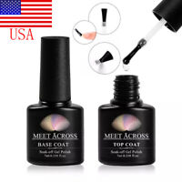 7ml MEET ACROSS Nail Top & Base Coat Gel Polish Varnish Soak Off UV LED Cured