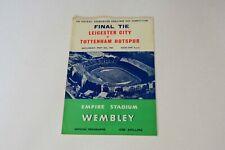 More details for 1961 fa cup final leicester c v tottenham h programme (excellent)