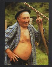 URUGNE (64) AGRICULTEUR avec RATEAU en 1992