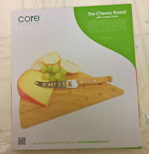 Core Bamboo Cheesy Board - Cheese Knife & Cutting Board Set - NEW, NEVER USED