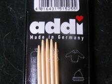 "ADDI NATURA Bamboo Double Point 6"" US1 KNITTING NEEDLE"