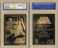 Star Wars Movie Poster 23 KT Karat Gold Card Sculptured Graded GEM MINT 10