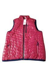 NWT Vineyard Vines WMNS Sz XS Beet Red Zip-Up Shiny Mountain Weekend Puffer Vest