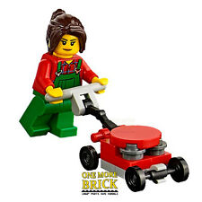 LEGO City Lawnmower and gardener minifigure  - from City Park 60134 NEW