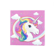 20pcs servilletas de papel servilletas de unicornio bebé fiesta de cumpleaños VP