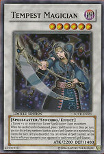YuGiOh Tempest Magician - SOVR-ENSE1 - Super Rare - Limited Edition Lightly Play