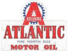 NEW Atlantic Die Cut tin metal sign