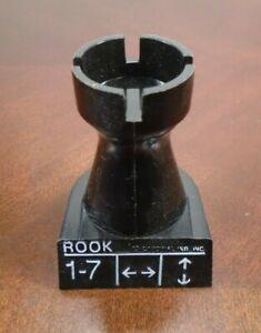 Chess Teacher Replacement Black Rook Piece Part Free Shipping