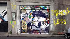"Not A Banksy Dj Koala Bear street art canvas stencil print by  andy baker 36"""