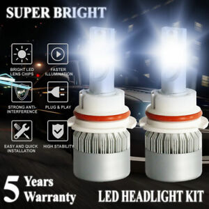 9007 HB5 LED 2100W 315000LM Headlight Conversion Kit White 6000K HI/LO BEAM Lamp