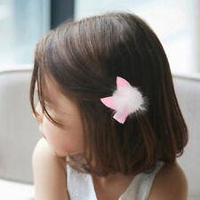1pc Pink Rabbit Ear Hair Ball Hairpins Kids Girl Hair Clip  Princess Barrett