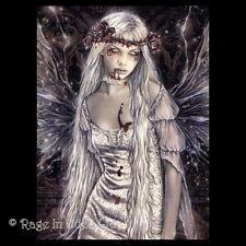 *OPHELIA* Goth Fantasy Fairy Art 3D Print By Victoria Frances (39.5x29.5cm)