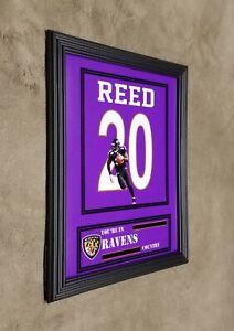 Baltimore Ravens Ed Reed Framed 8x10 Jersey Photo