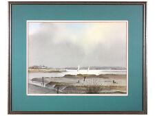 REDUCED 'Iken Mud Flats, Suffolk' by J A Hutchinson - Watercolour original