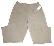 Rafaella Woman 2 Way Stretch Pants Plus Size 18W Tan Taupe Casual Career $60 NWT