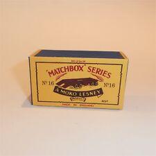 Matchbox Lesney 16 b Atlantic Rotinoff Trailer empty Repro B style Box