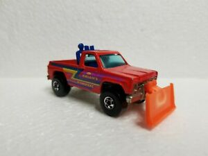 1980's Vintage Hot Wheels Brian's Snow and Dirt Removal Plow Truck v.g cond