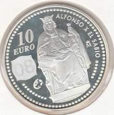 Spanje 10 euro 2008 Proof zilver PP: Koning Alfons X de Wijze
