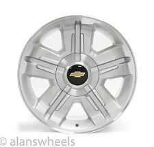 "4 NEW Chevy Suburban Tahoe Z71 Silver Machined 18"" Wheels Rims Free Ship 5300"