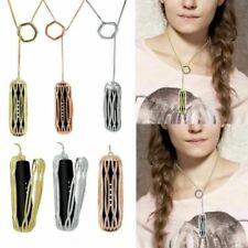 Elegant Metal Steel Necklace Pendant Strap Holder For Fitbit Flex 2 Bracelet HYA