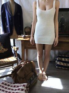 1920 Shirt Dress French Dress 1910 Vtg Knitted Cotton Dress Paysan robe Ancien