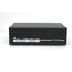 VGA Splitter 4Fach Aktiv Adapter 4 Fach Verteiler 4Port PC monitor Splitter