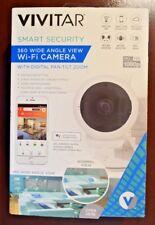 Vivitar IPC117 360 Wide Angle 1080p HD Wi-Fi Smart Home Camera with Motion