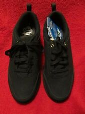 Dr. Scholl's mens black memory foam lace up lightweight tennis shoe 8