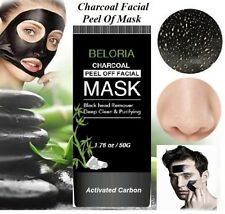 2 X CHARCOAL BLACKHEAD REMOVER PEEL-OFF FACIAL CLEANING BLACK FACE MASK 100ml